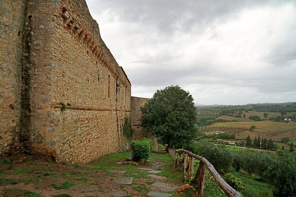 Ausblick von Magliano in Toscana auf die Landschaft der Maremma
