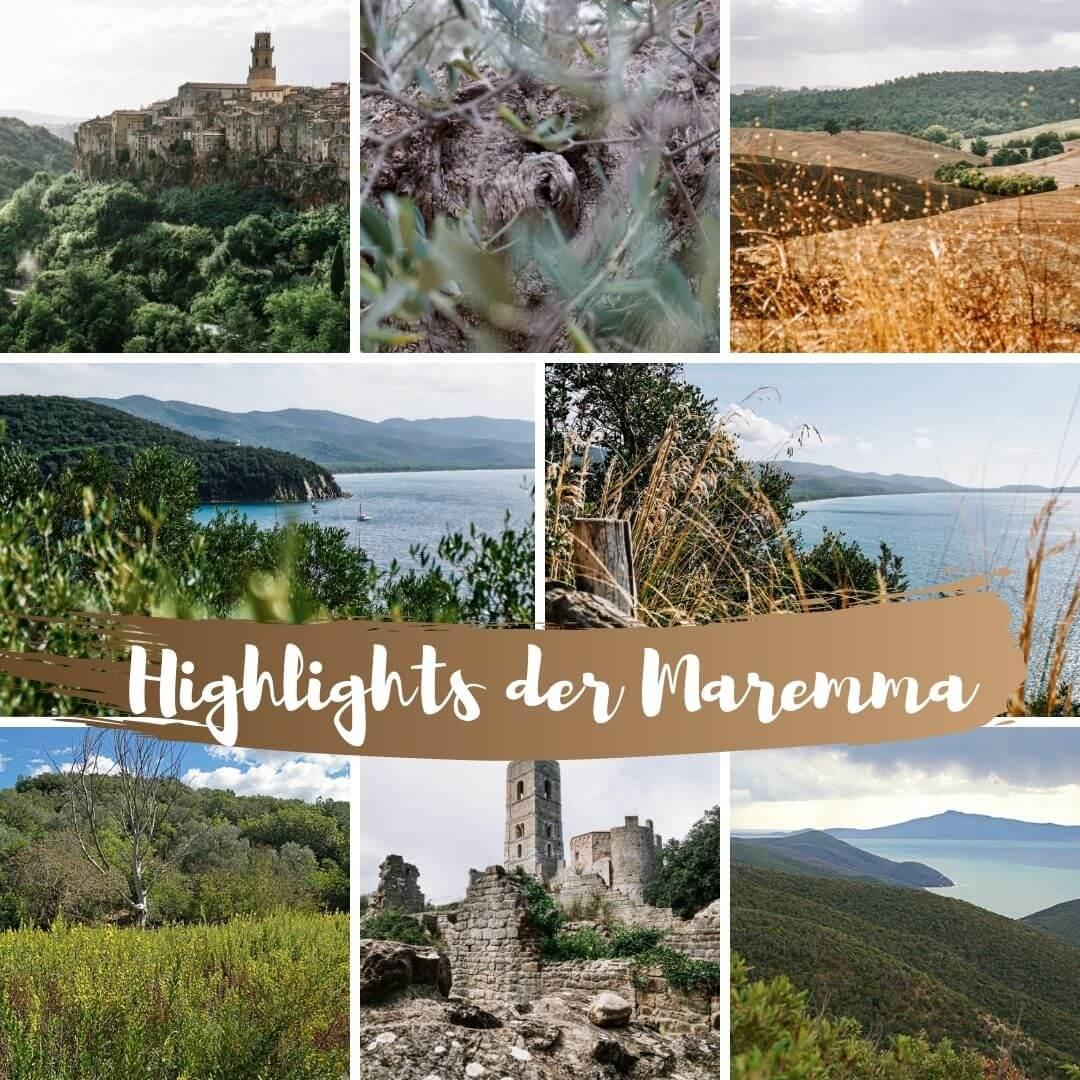 Unsere Highlights und Tipps fuer einen Urlaub in der Maremma in der Toskana