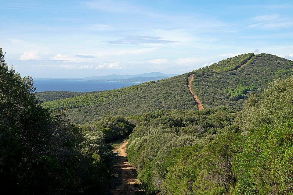 Wanderweg im Hinterland der Maremma