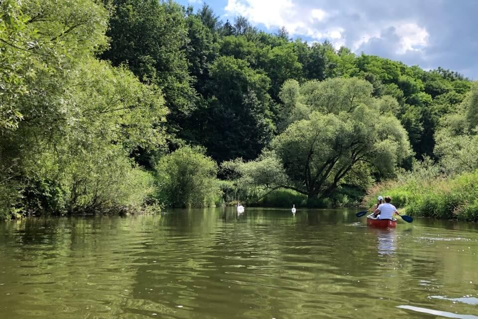 Kanufahren auf Kocher und Jagst in Hohenlohe
