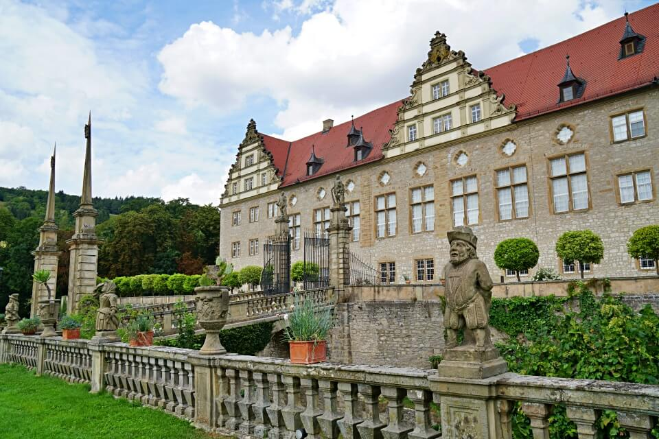 Schloss Weikersheim im Taubertal in Baden Wurttemberg