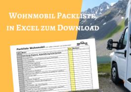 Packliste Wohnmobil Excel zum Download